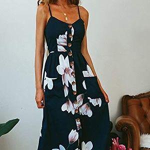 Dresses & Skirts - Navy Midi Dress
